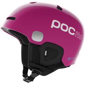 POC POCito Auric Cut Spin Helmet Barn fluorescent pink